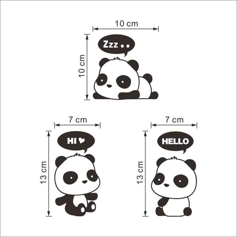 3d wall stickers switch cartoon funny panda decoration diy vinyl