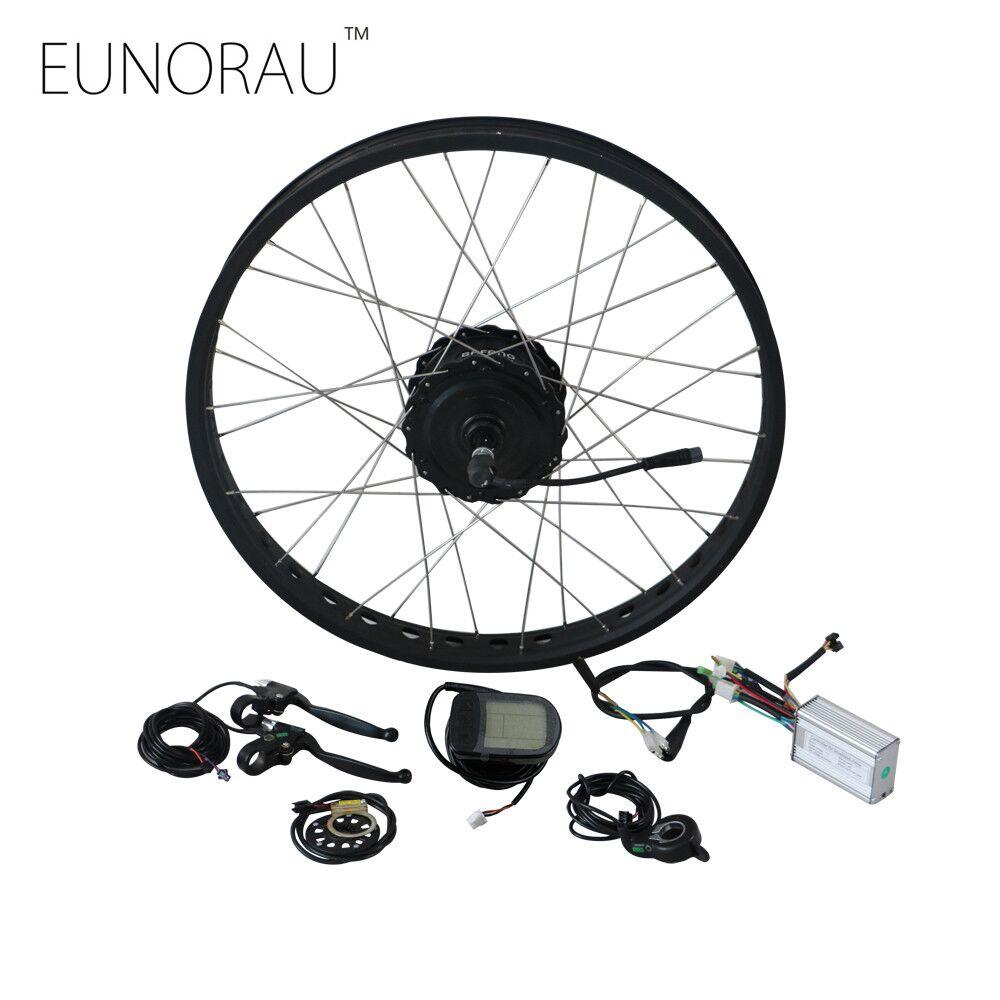 EUNORAU Electric Bike Conversion Kit 48V750W Bafang FAT REAR hub motor E Bike Conversion Kit drop out size 175mm eunorau 48v500w electric bicycle rear cassette hub motor 20 26 28 rim wheel ebike motor conversion kit