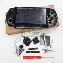 [Yeni Sürüm] 4 Renk Isteğe Bağlı Sony PSP3000 PSP 3000 Oyun Konsolu yedek tam konut shell kapak kılıf düğme kiti ile