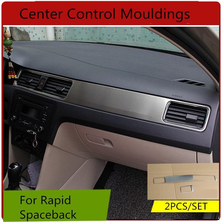 Stainless Steel Center Control Mouldings For Volkswagen Skoda Rapid Spaceback  Z2EA1180