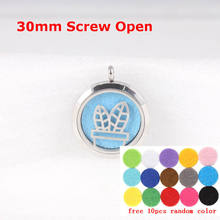 Free Chain and Pads Perfume Locket Pendant Thumbs Essential Oil Diffuser Stainless Steel Necklace