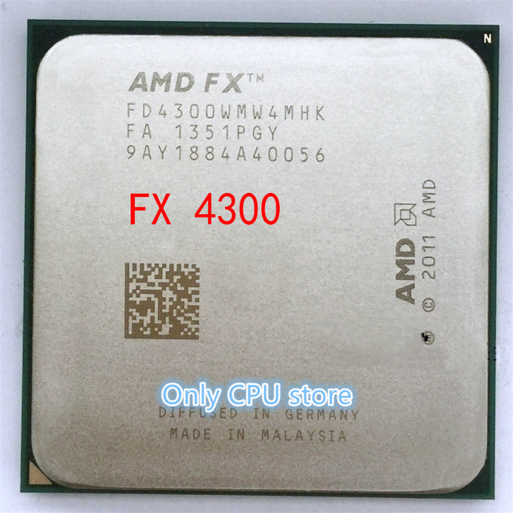 Free Shipping AMD FX 4300 AM3+ 3.8GHz 8MB CPU Processor FX Serial