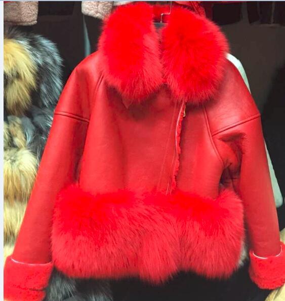 Zima originální originální ovčí kožená bunda teplá luxusní kuřecí skutečná semišová srst 2019 nová přizpůsobená velkoformátová kožená bunda