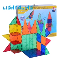 Lightaling 42pcs Magnetic Tiles Building Block Kids Baby Toys Games Construction Stacking Sets For Children