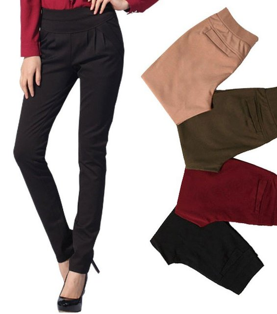 Nice quality fashion casual pants trousers women new style khaki/black/red/green colors size S, M, L, XL, XXL, XXXL