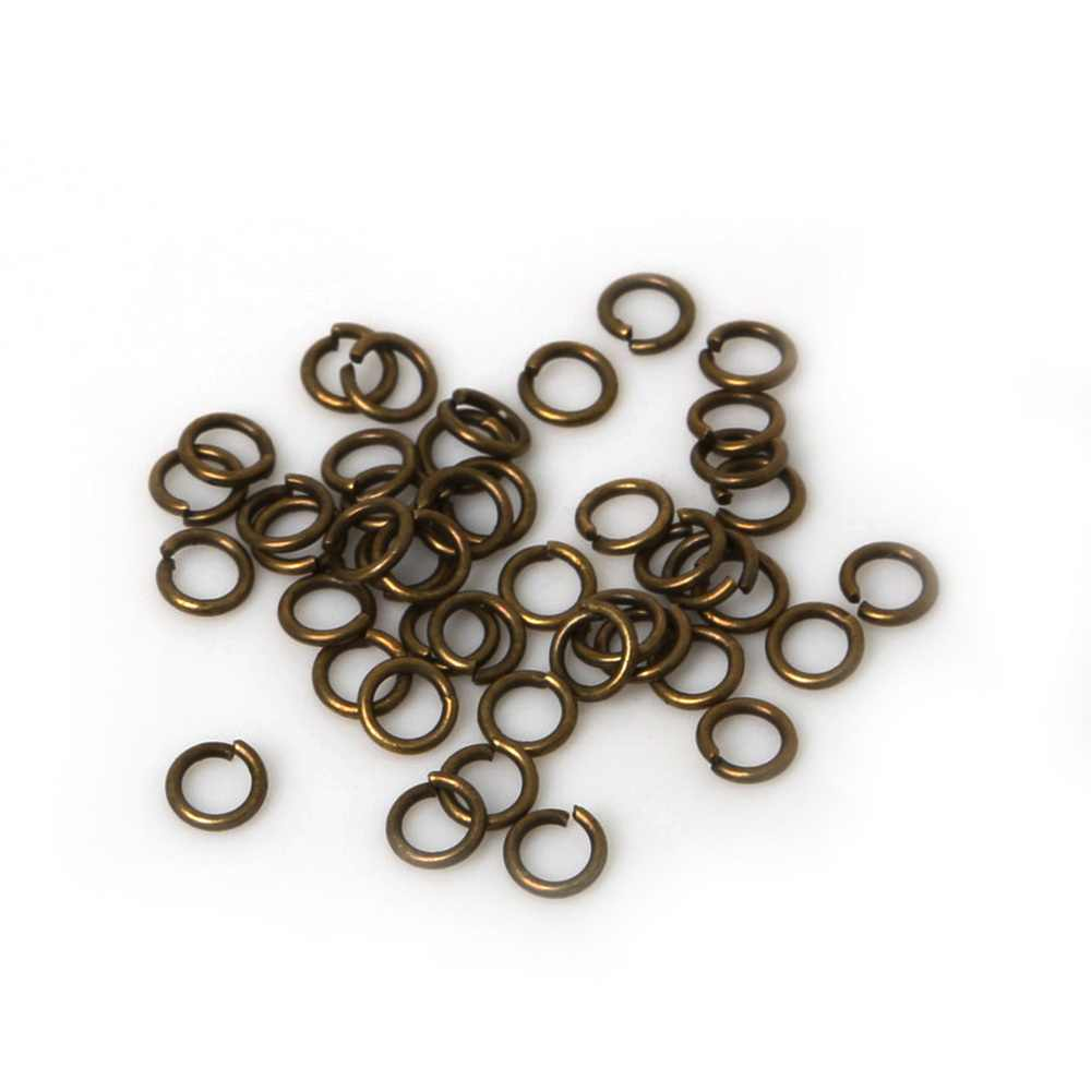 1000pcs/lot 0.7X4mm Fashion Iron Open Jump Rings For Necklace Bracelet DIY Jewelry Making Part Accessories
