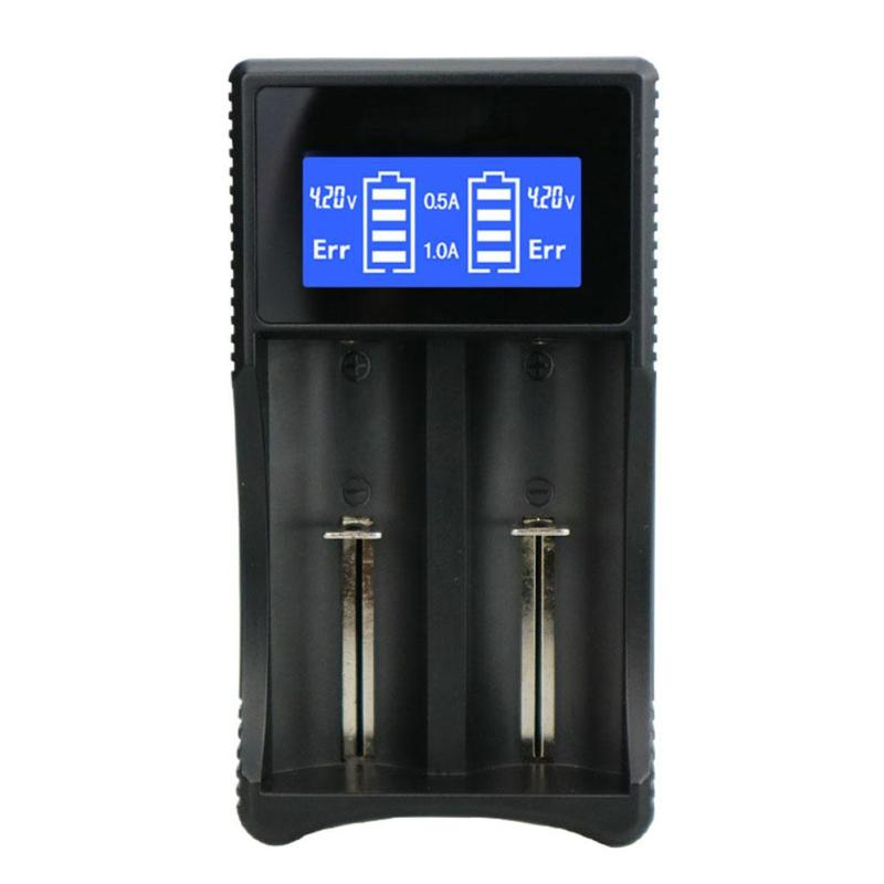 5V 1-2A Dual USB Power Bank Battery Charger LCD Display for 26650 22650 20700 21700 18650 18490 18350 IMR Li-ion Batery Charger