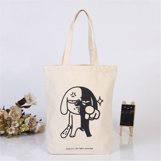 8fcbf5c6b88 wholesale 500pcs lot 20x22Hcm cotton Canvas shopping bags foldable reusable grocery  bags eco tote handbag custom print logo