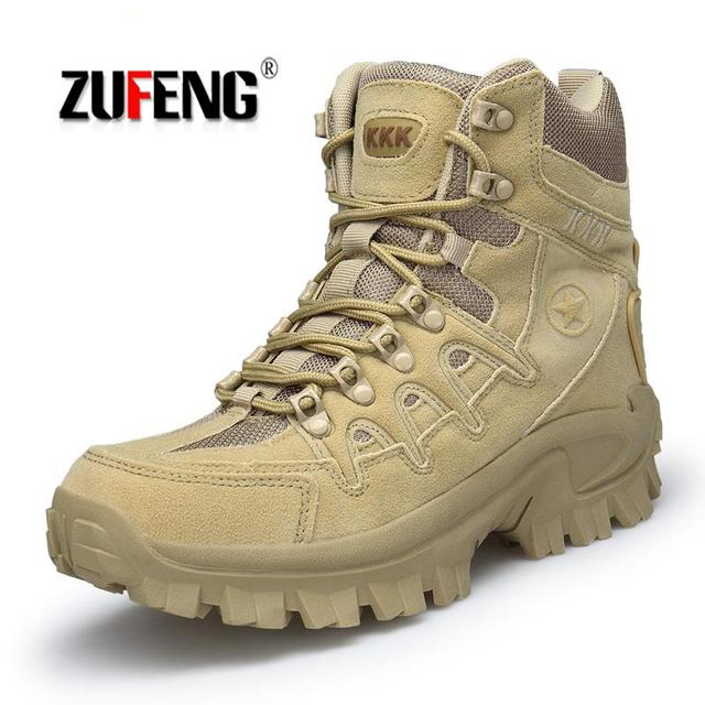 High-quality outdoor Sports Tactical Camping Shoes Men's Boots For Climbing Breathable Mountain Boots Lightweight Hiking Shoes
