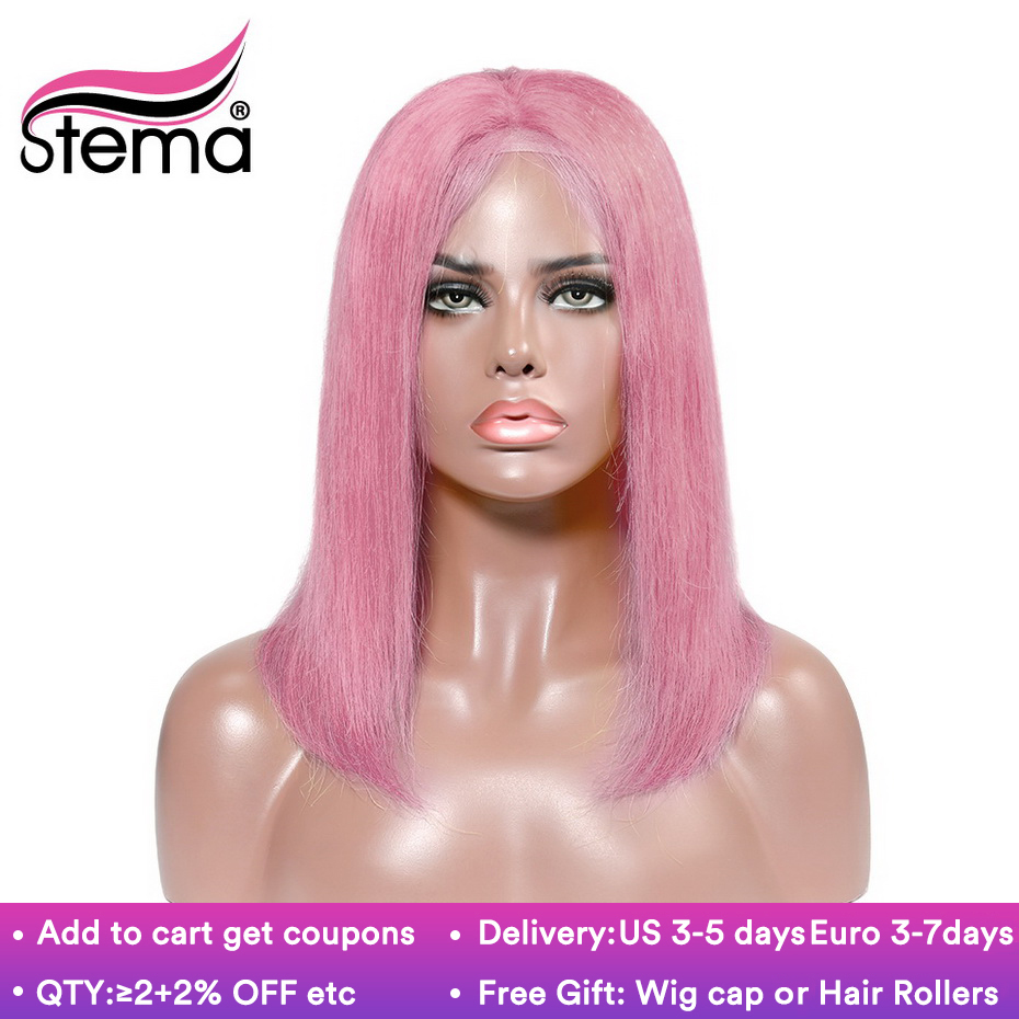 Stema Straight Short Bob Lace Front Wig Ombre 1b 613 1b 27 4 613 Blonde Color