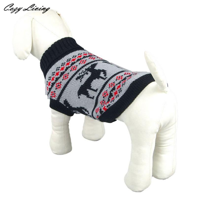 1 unid ropa para mascotas Navidad xs xl ganchillo suéter del perro ...