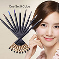 1set 9 colors EQA813 black golden glitter eye shadow pencil waterproof beauty tool eye make-up pencil