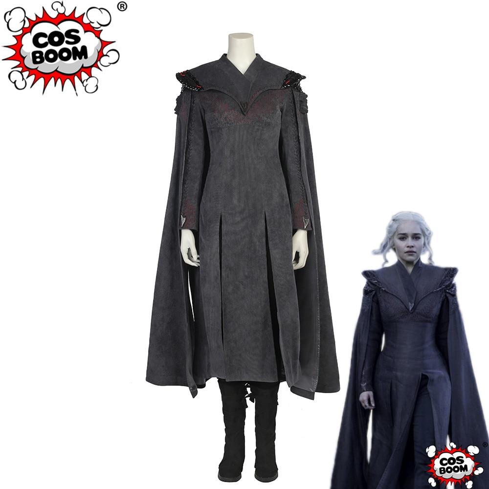 COSBOOM Game Of Thrones Season 7 Daenerys Targaryen Cosplay Costume Custom Made Women Halloween Carnival Costume