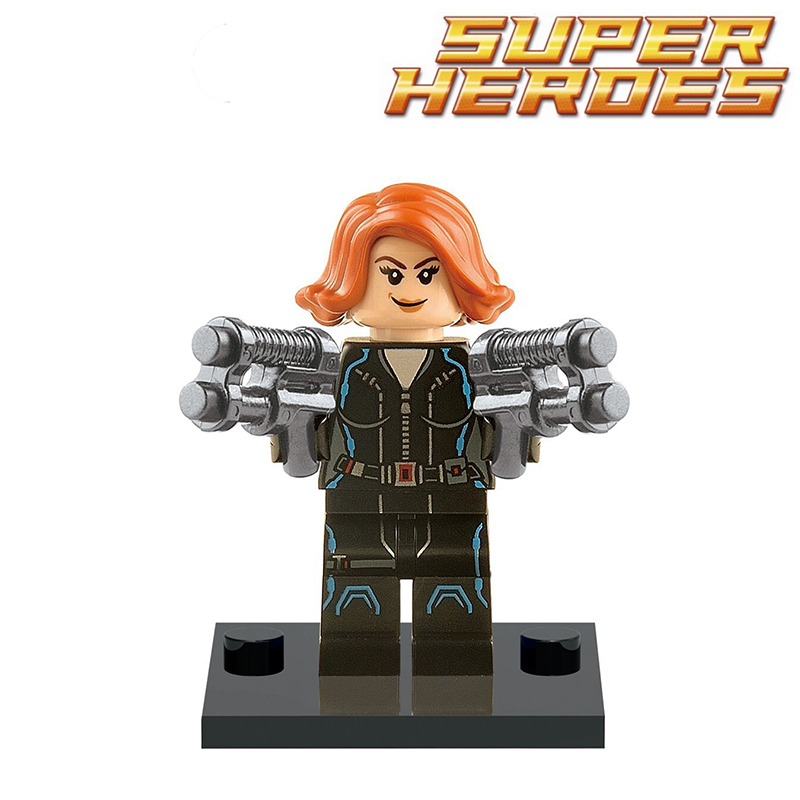 Single sale marvel building block super heroes avengers black widow diy figures...