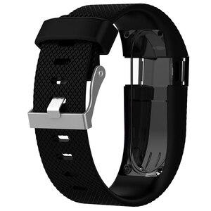 Image 4 - Pour Fitbit Charge HR remplacement bracelet de montre bracelet de montre en Silicone pour Fitbit Charge HR activité Tracker boucle en métal bracelet de poignet