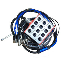 купить 2pcs/lot Pro Audio 12 channel  Stage Snake Cable wiht XLR COMBO JACK BOX 10Meter недорого