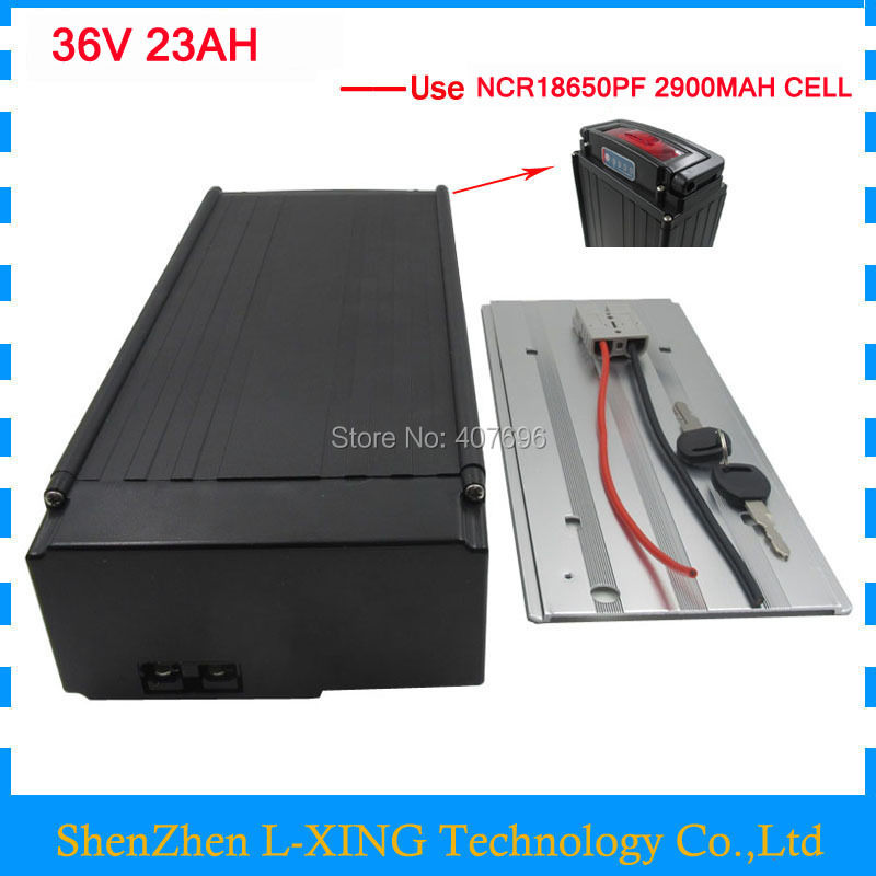 36 V 1000W EBike battery 36V Lithium battery pack 36V 23AH 23.2AH use Panasonic 2900mah cell 30A BMS with Tail light 2A charger electric bike battery 36v 15ah 500w 36 v 15ah lithium battery pack with tail light use 2200mah 18650 cell 15a bms 42v 2a charger