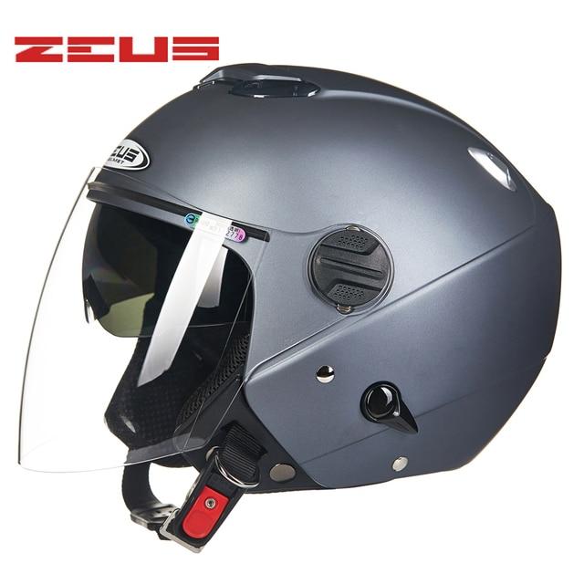 38a25f044f2 Genuino ZEUS hombres mujeres motocicleta casco doble lente ciclismo Scooter  verano invierno casco Motos moto Moto