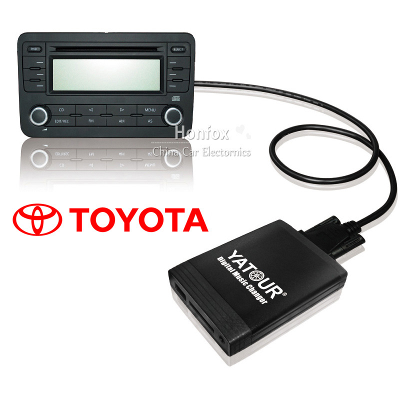 Yatour Car cd changer for Toyota Aygo /Citroen C1 / For Peugeot 105 2005-2012 USB MP3 SD AUX adapter Digital music changer yatour car adapter aux mp3 sd usb music cd changer 6 6pin connector for toyota corolla fj crusier fortuner hiace radios