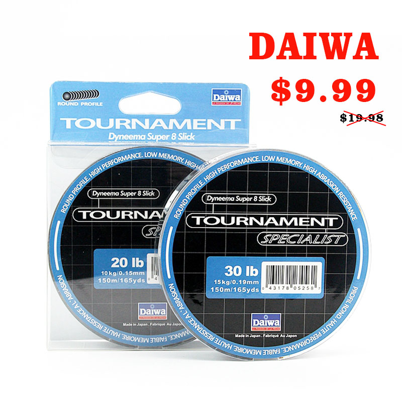 DAIWA 8 Braided Fishing Line - Length:150m/165yds, Diameter:0.1mm-0.4mm,size:13-88lb Japan PE braided line