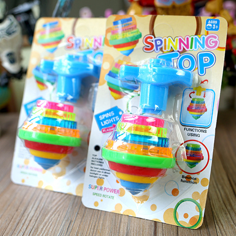 Classic Toys Children's Toy Colorful Flashing Light Spinning Top Hot Sale Gyroscope Kid's Plastic Gyro Toys for Child Birthday