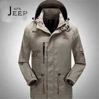AFS JEEP 4XL To M Professional Design Man S Single Layer Windbreaker Field Waterproof High Quality
