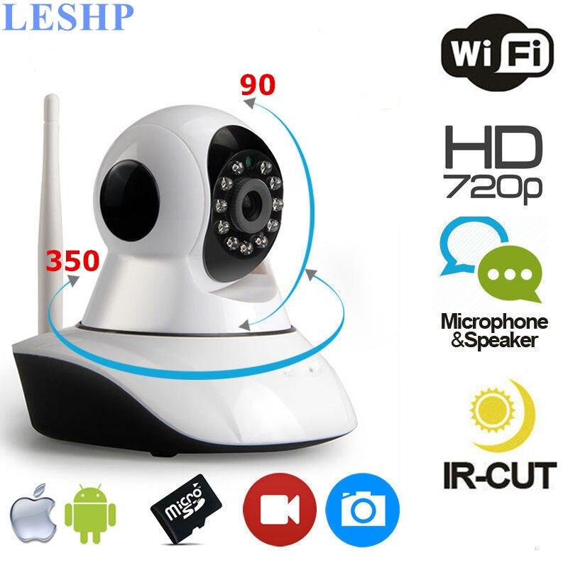 LESHP WiFi IP Camera 1280*720 HD Wireless Baby Monitor Household Record Audio Video Surveillance Camera 180 Degree ViewingLESHP WiFi IP Camera 1280*720 HD Wireless Baby Monitor Household Record Audio Video Surveillance Camera 180 Degree Viewing