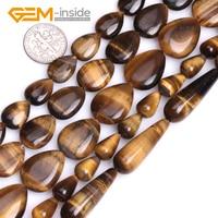 Ассорти размеров капельный Ограненный желтый натуральный камень тигровый глаз камни бусины для самостоятельного изготовления ювелирных и...