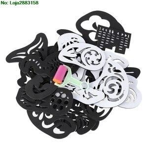 Image 4 - 25PCS 머리 문신 템플릿 헤어 트리머 조각 된 색칠 멋진 헤어 스타일링 도구