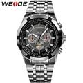 WEIDE Men's Popular Watches Men Luxury Brand Quartz Clock Movement Military Business Men Wristwatch Full Steel relogio masculino