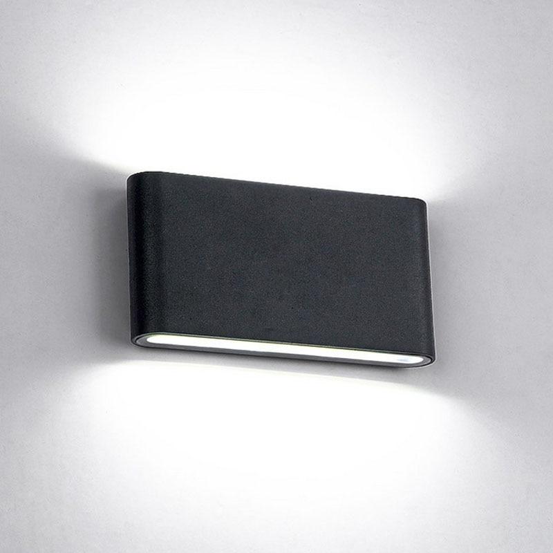 6 W/12 W LEVOU Lâmpadas de Parede Ao Ar Livre IP65 À Prova D' Água Da Lâmpada de Parede Interior conduziu a Luz Da Escada Corredor AC85-AC265V Lighitng luzes de parede de cabeceira