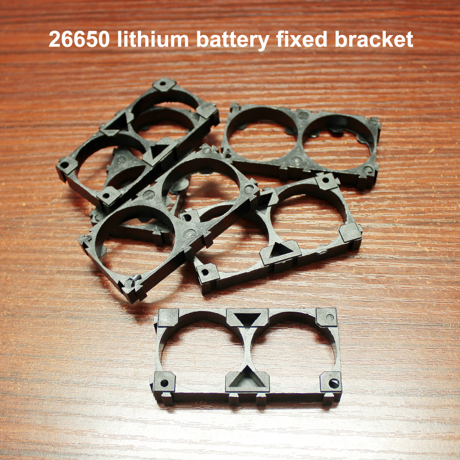 10pcs/lot 26650 Lithium Battery ABS Fire Retardant Plastic Any Combination Buckle Fixing Bracket DIY Universal Assembly Bracket