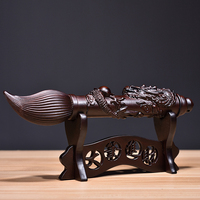 Ebony solid wood carving Wenchang pen decoration large money mahogany furniture shop decoration handicraft opening gift