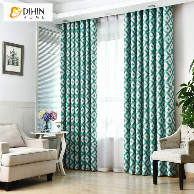 Polyester Modern Curtain Window Curtains For Living Room French Windows Custom Made Cortina 1 Panel
