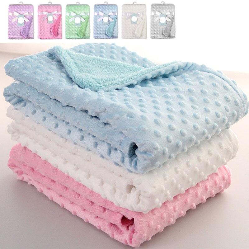 211450e100ea 2019 Recém-nascidos Do Bebê Blanket & Panos Envelope Carrinho De Lã Macia  Cobertor Jogo de Cama Colcha de Algodão Sólida Envoltório Crianças Toalha  de Banho