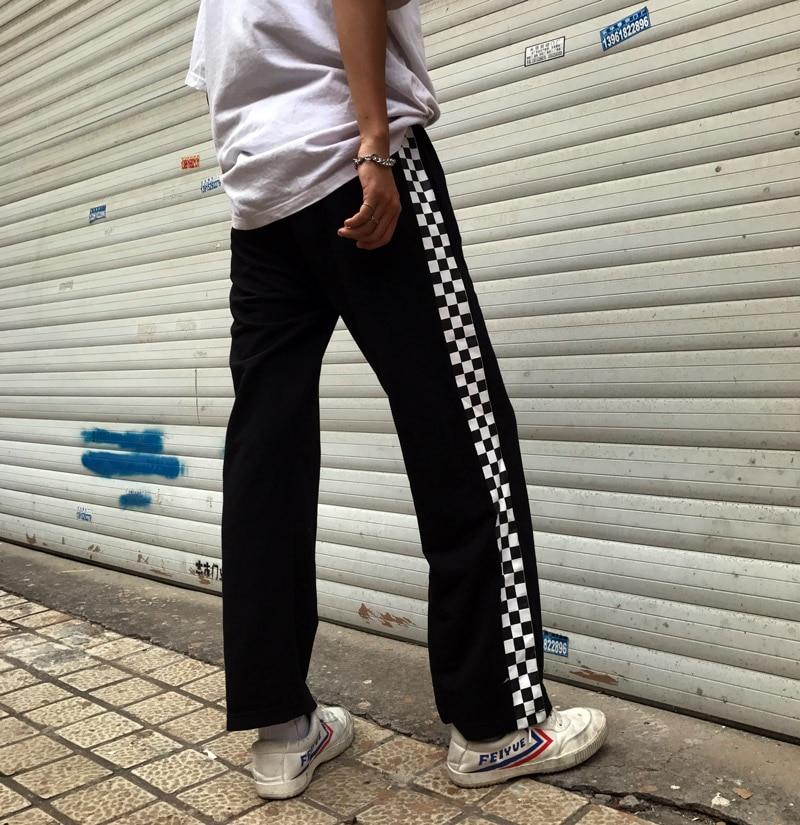 HTB1VJyPSFXXXXXUXVXXq6xXFXXXD - Checkerboard Pants Punk Black White Squares Cool  Street Trouser JKP003