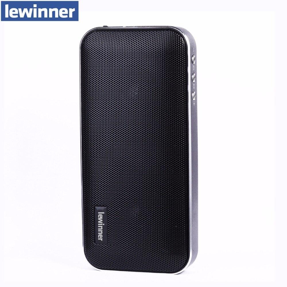 Lewinner Mini Bluetooth רמקול נייד אלחוטי מערכת קול מוסיקה סראונד סטריאו 3D USB TF תמיכת בנק כוח