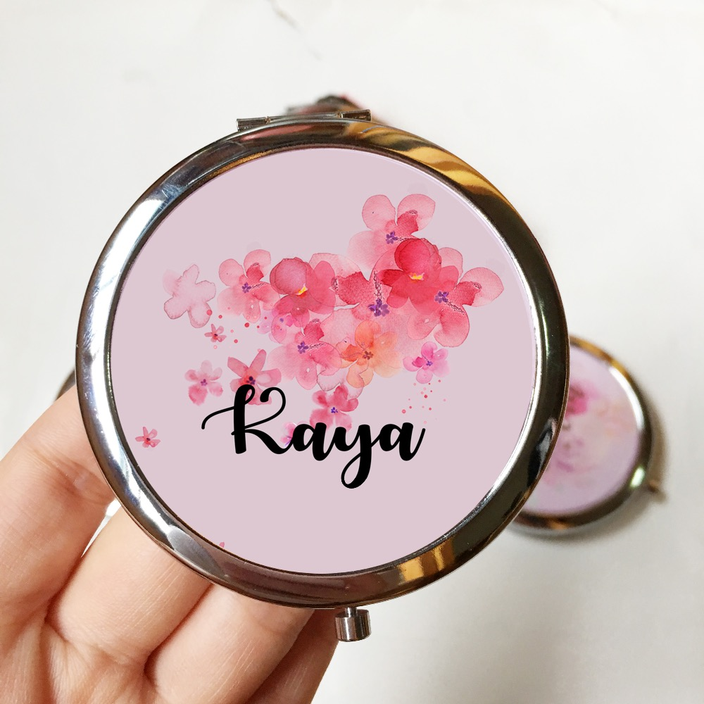 7pcs lot Personalized compact Mirror Bridal party favors and gifts Wedding Proposal Ideas Custom Bridesmaid gift image