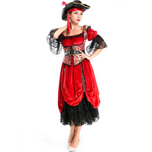 Hot Sale New Red Female Pirate COS Female Knight Queen Costume Halloween Stage Pirate Costumes L18727125  sc 1 st  AliExpress.com & Buy female knight costume and get free shipping on AliExpress.com