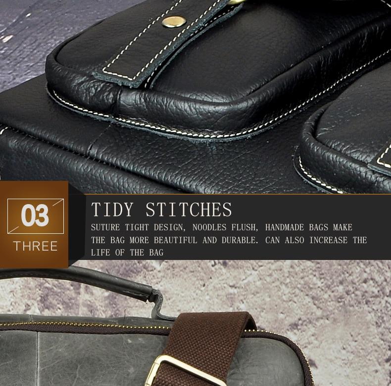 "HTB1VJyfdsrI8KJjy0Fhq6zfnpXac Le'aokuu Men Real Leather Antique Style Coffee Briefcase Business 13"" Laptop Cases Attache Messenger Bags Portfolio B207-d"