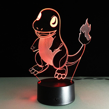 POKEMON Umbreon PIKACHU EEVEE CHARMANDER SQUIRTLE LED Night light Colorful Bed Lamp Illumination Light Party Atmosphere Decor