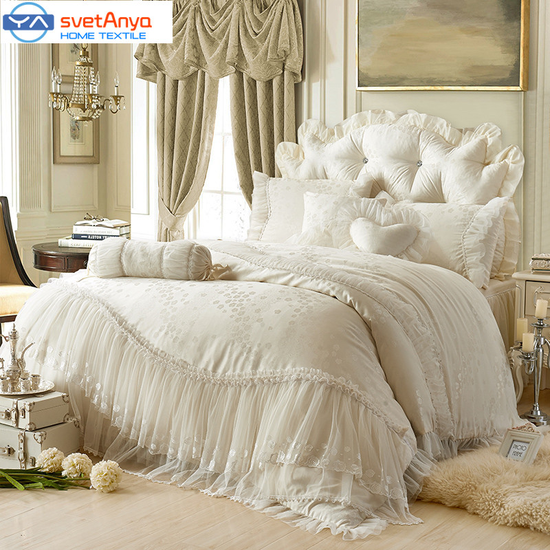 princess Lace cotton luxury bedding sets queen king size beige pink red. Online Get Cheap Luxury Bedding Set  Aliexpress com   Alibaba Group