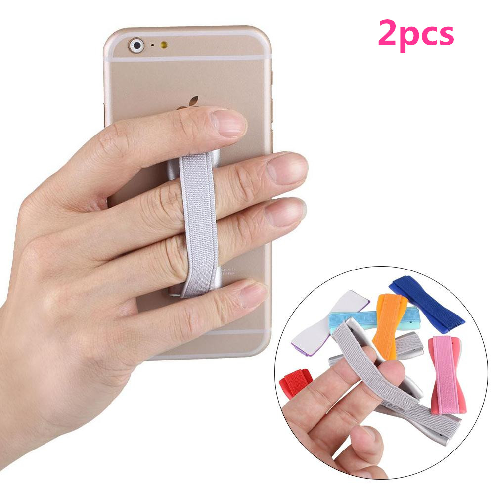 2pcs Phone Holder Elastic Finger Grip Strap for Mobile SmartPhone Tablets