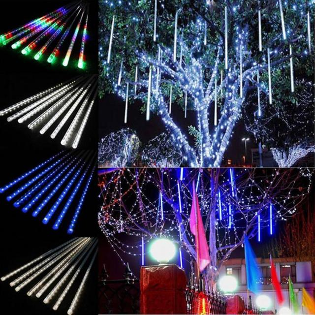 30 cm lichtslingers meteorenregen regen buizen kerst outdoor decoratie gordijn ijspegel string led verlichting tuin xmas