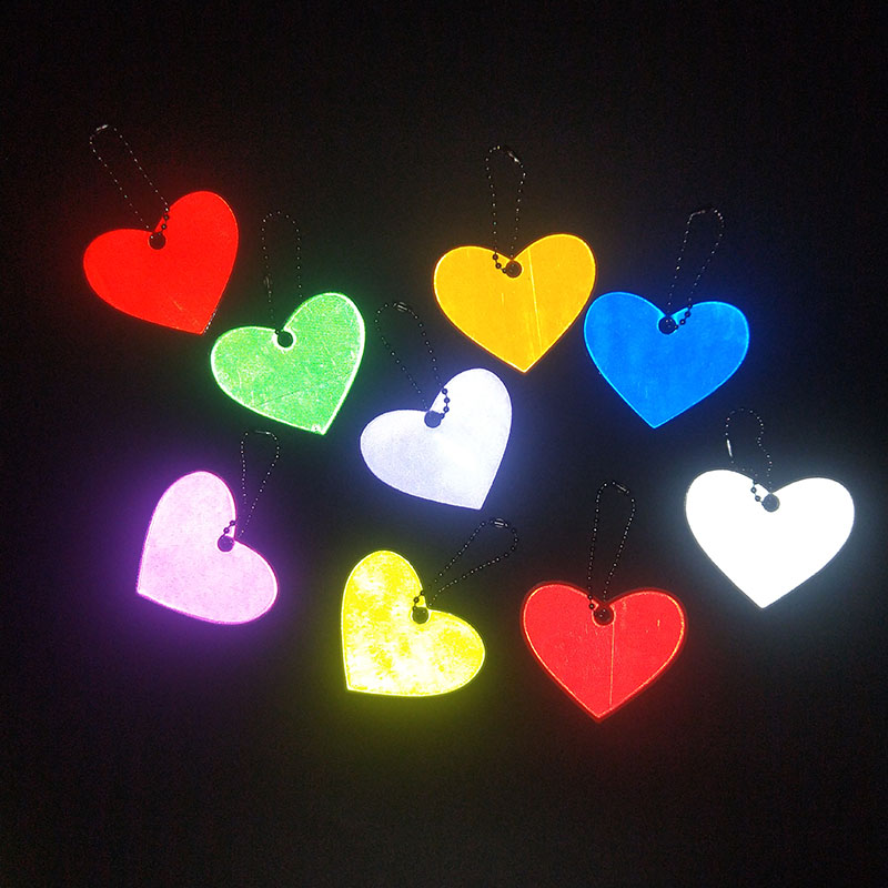 Luggage & Bags Reflective Glossy Unicorn Key Pendant Heart-shaped Car Bag Pendants Jewelry 20pcs For Pack
