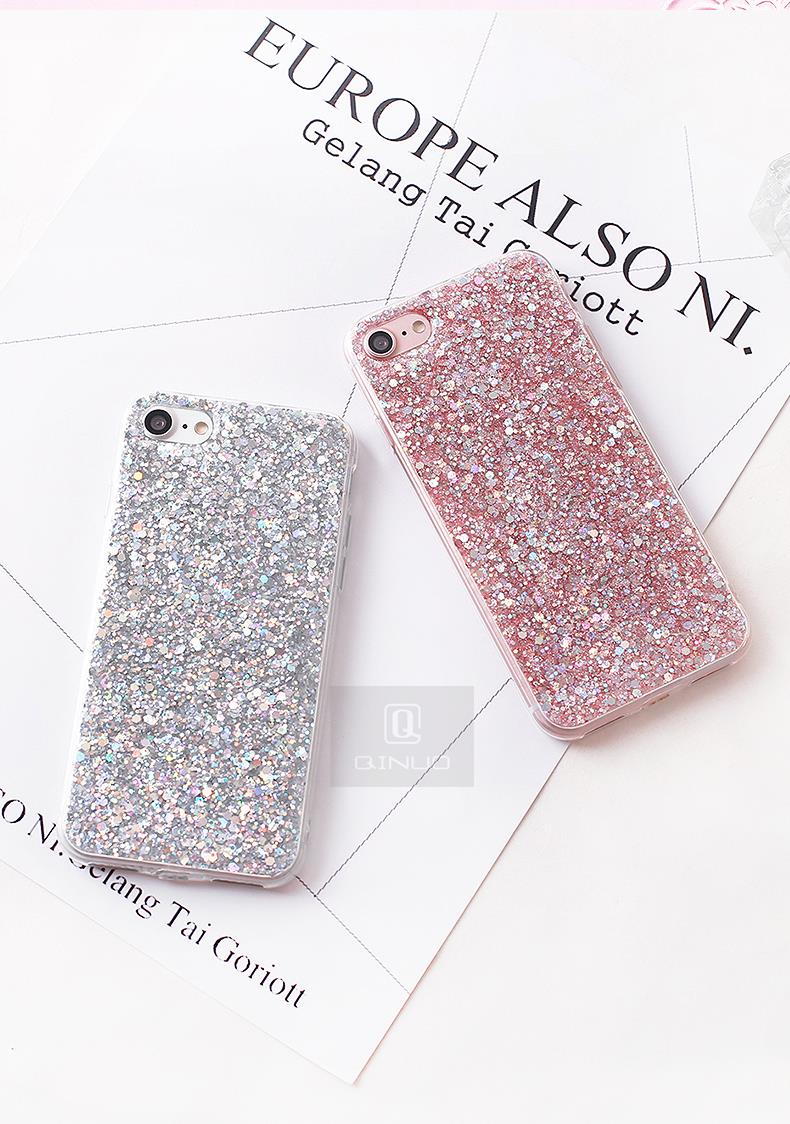 HTB1VJyxaXzsK1Rjy1Xbq6xOaFXa0 - Gurioo Silicone Bling Glitter Crystal Sequins Hard shell Phone Case For iPhone 11 5 SE 6 6S 7 8 X Plus XR XS Max Protective Case
