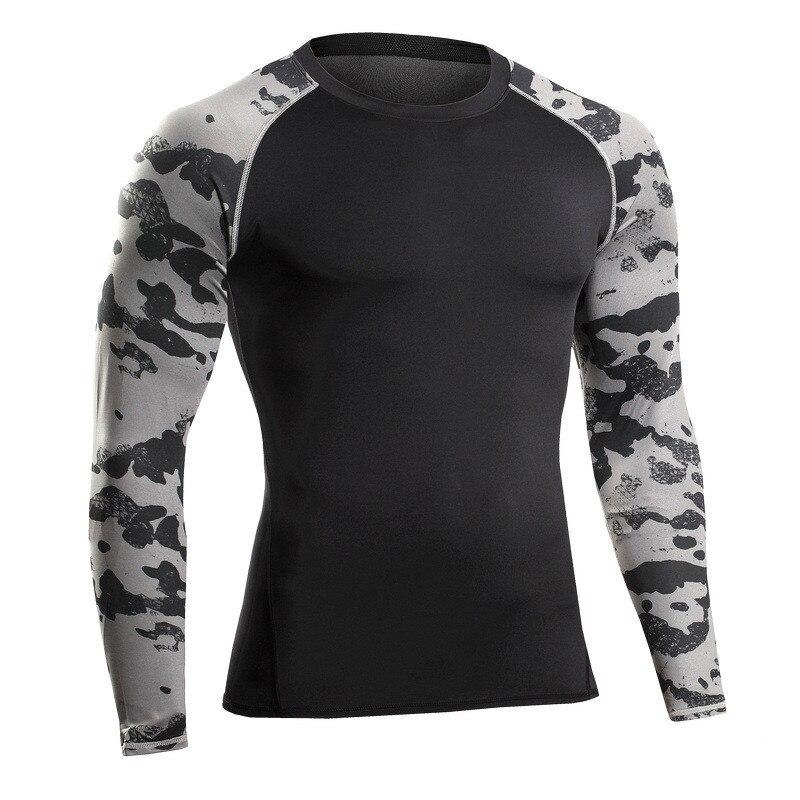 c4cccabec2 Homens camiseta de manga longa roupas de fitness musculação crossfit workout  streetwear camiseta de compressão shaper do corpo dos homens cobre t em ...