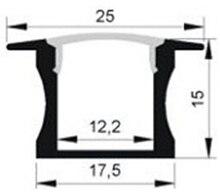 20PCS 1m length aluminium profile for led strips free shipping aluminum channel housing-Item No. LA-LP14 suitable for 12mm width