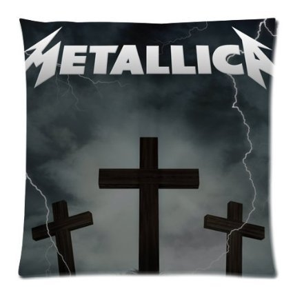 Free Shipping Cotton Pillow Cover Metal Rock Band Metallica Cross Classy Metallica Throw Blanket