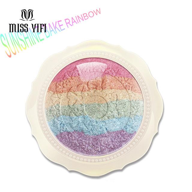 Nova Chegada Cozido Prisma Mista Sombra Pó Iluminador Maquiagem Cosméticos Shimmer Paleta Da Sombra de Olho com Espelho Sombra de Olho
